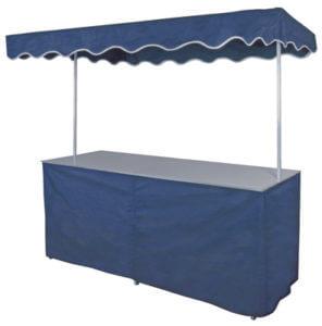 Kraam met luifel (blauw)