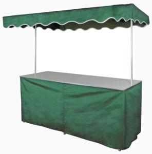 Kraam met luifel (groen)
